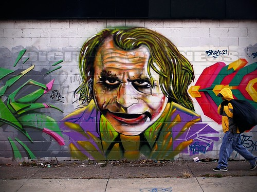 graffiti joker by Digital Witness