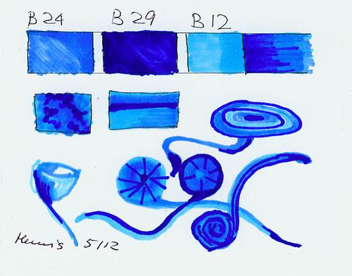 copic blue colours