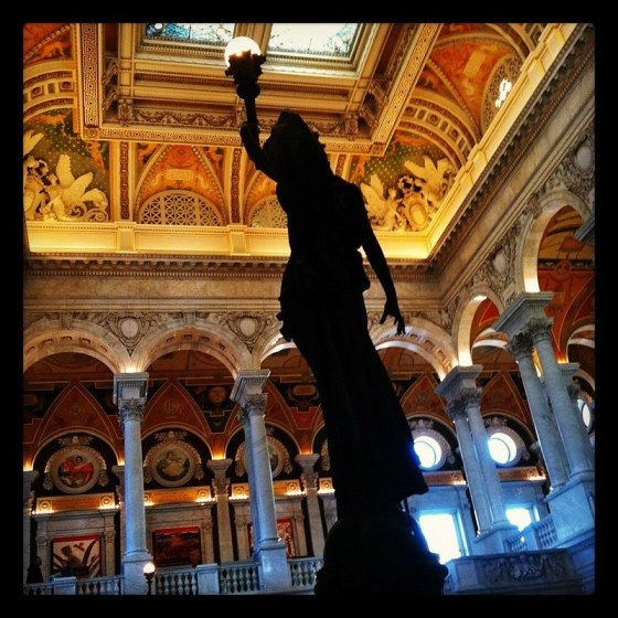 Beautiful statue in the Great Hall of The Library of Congress (Instagrammed photo)- February 2012