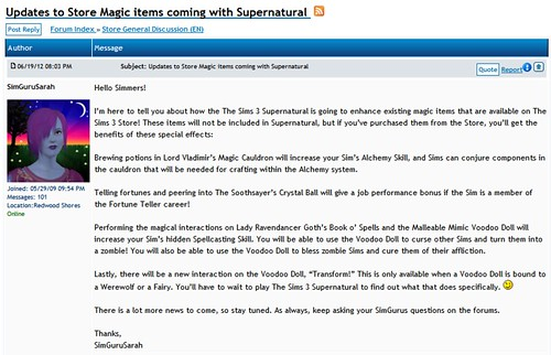 Store Items Will, in Fact, Be Updated for Supernatural!