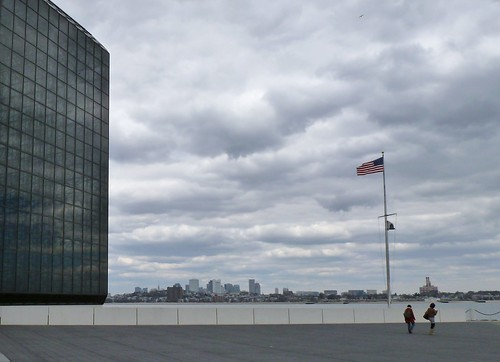 JFK Library with Boston skyline