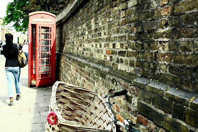 wall and phone booth, cambridge