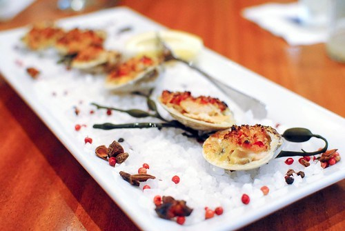 clams casino baked littleneck clams, bell peppers, bacon