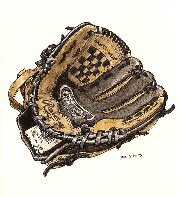my son's first baseball glove
