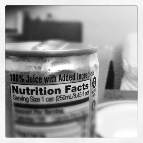 338: if it has added ingredients, then it's no longer 100% juice...
