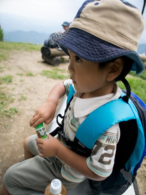 比叡山山頂でひと休み