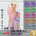 _BeReckless_ Open Back Summer Top Purple (Mesh)