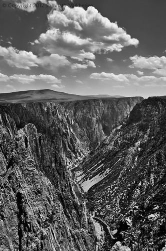 Gunnison River and Black Canyon in Monochrome | Black Canyon of the Gunnison National Park, CO | May 2012 by Somnath Mukherjee Photoghaphy