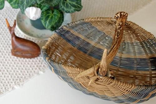 mother river antler basket