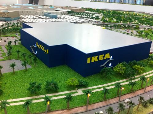 Cityscape Abu Dhabi. Theregoes the IKEA.