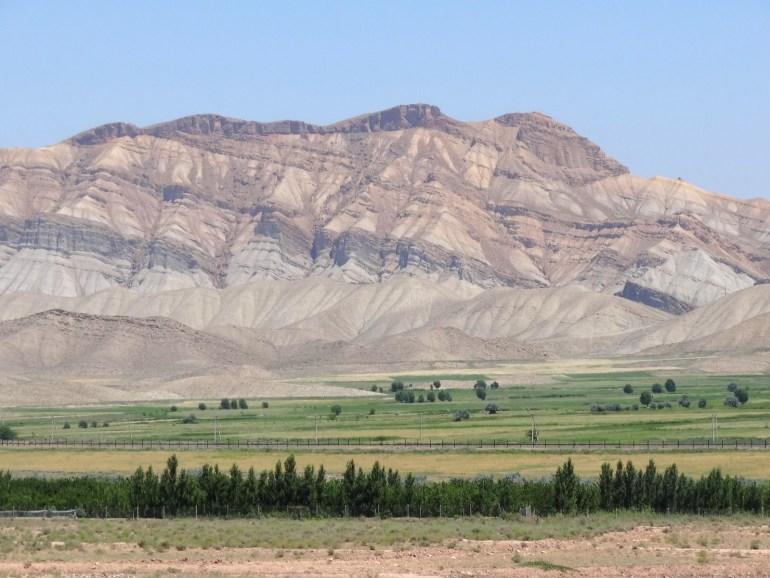View across Aras River to Mountain Range in Nakhchivan Exclave - Azerbaijan - Iranian Azerbaijan - Iran