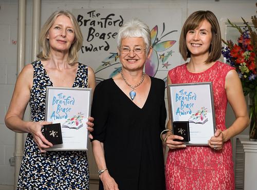 Fiona Kennedy, Jacqueline Wilson and Branford Boase winner Annabel Pitcher