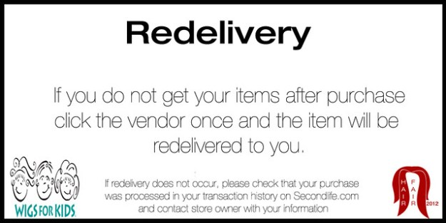 Redelivery Sign
