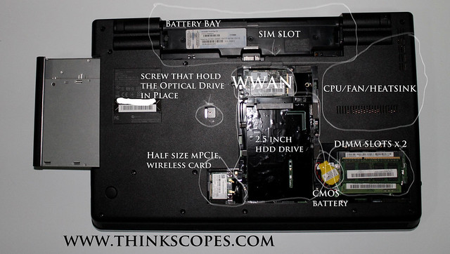 ThinkPad Edge E520 Internal bay
