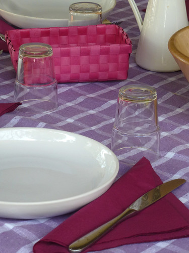 Tablescape in Purple with dry flowers