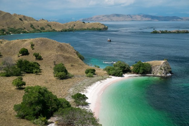 Pink Beach from above. Komodo Island