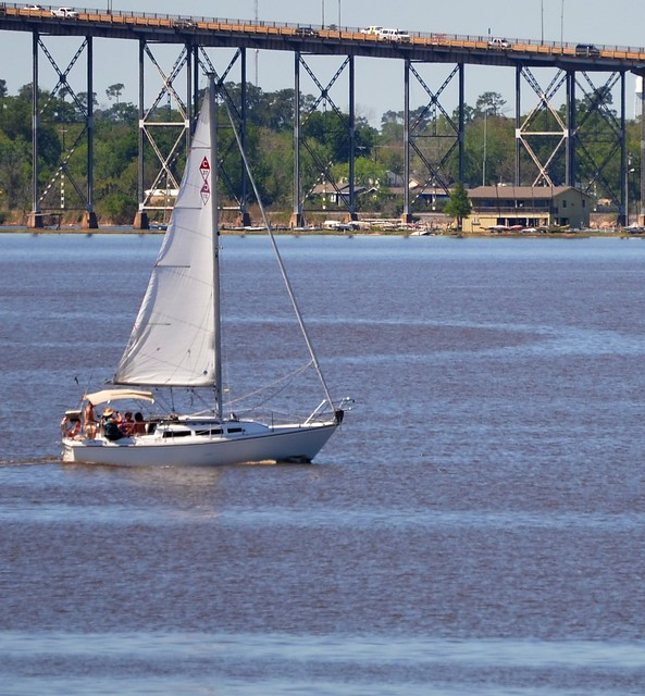 Sailboat on Lake Charles
