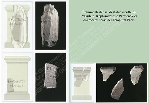 ROMA ARCHEOLOGIA - I FORI IMPERIALI: Frammenti di basi di statue iscritte di Prassitele, Kephisodotos e Parthenokles dai recenti scavi del Templum Pacis (1999-2001). by Martin G. Conde