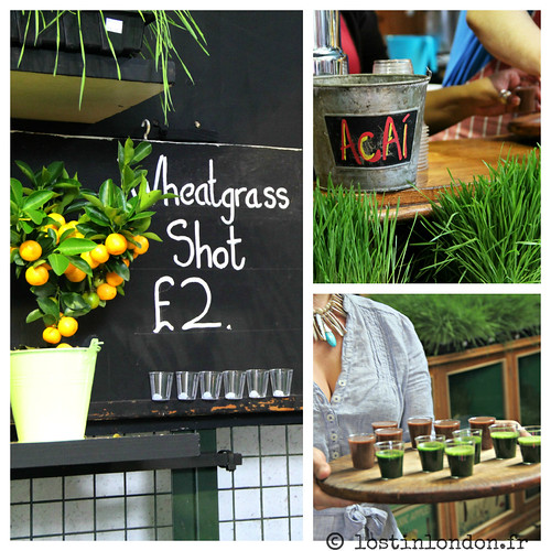 wheatgrass acai juice