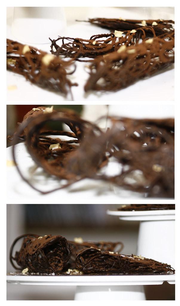 Collage xocolata amb sal i oli