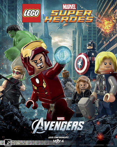The Avengers LEGO Movie Poster