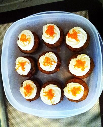 Mini Gluten-Free Carrot Cupcakes