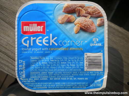 Quaker Mu?ller Greek Corner Yogurt Caramelized Almonds
