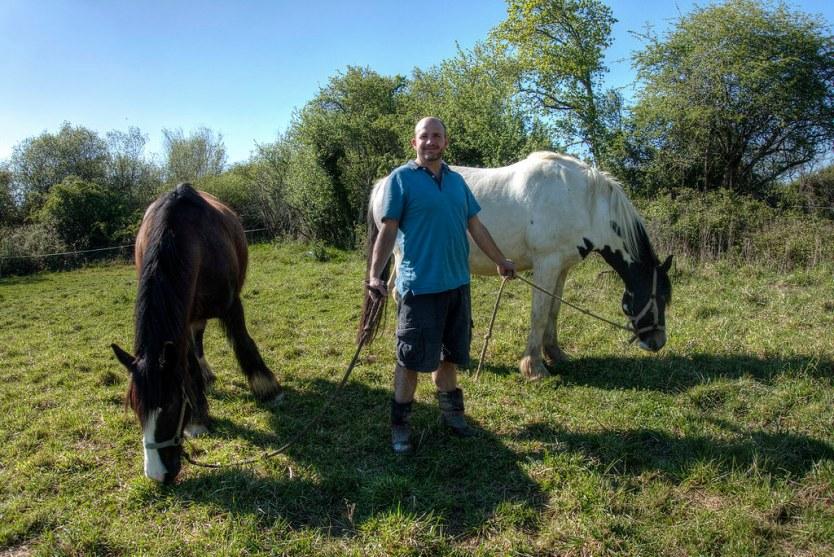 Matt, a regular ole' horse whisperer.