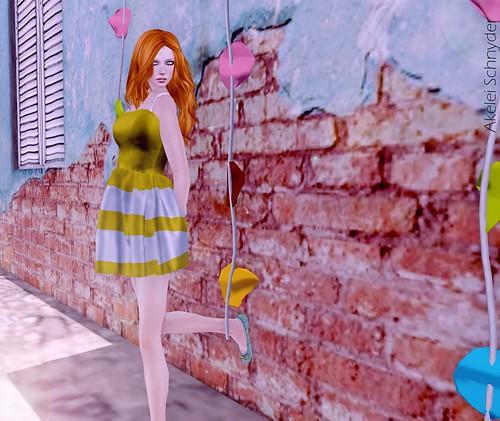 Retro' - Lines Mesh dress
