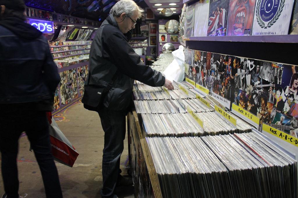 Puesto de discos