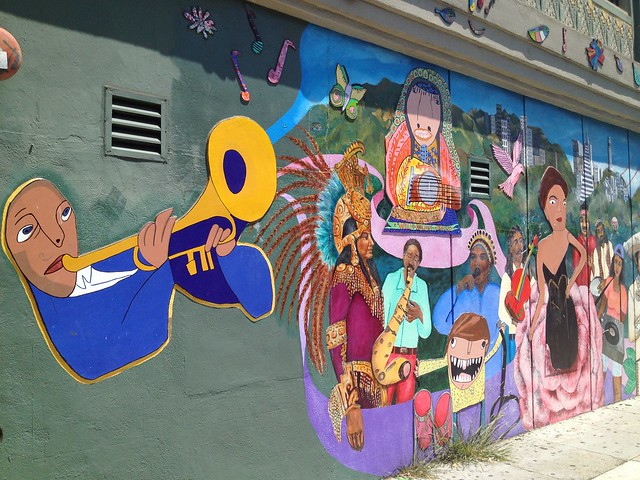 San Francisco themed mural, 21st Street