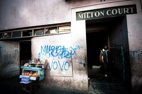 Milton Court entrance by S:P:S