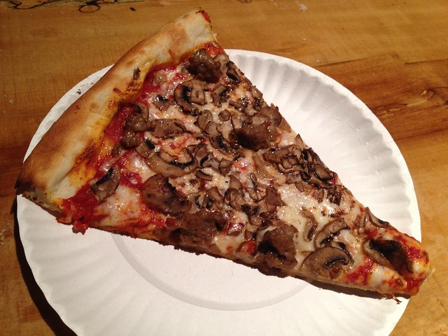 Sausage and mushroom pizza - Marcello's Pizza
