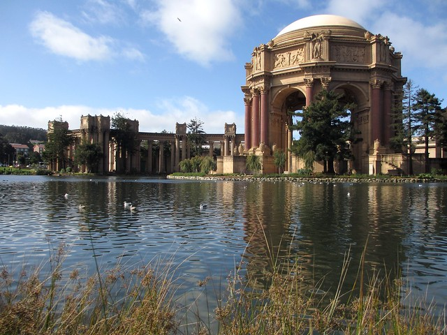 View of the Palace of Fine Arts