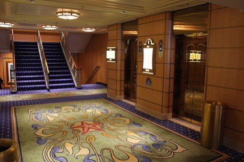 Stateroom deck elevators - Disney Fantasy