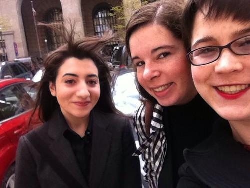 Sara Faradji, Nancy Brown, Jessica Dickinson Goodman, about to speak to the Pittsburgh City Council