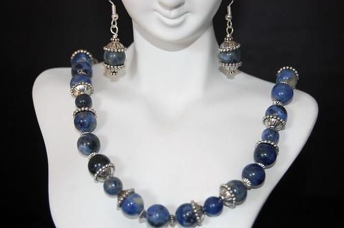 Rhapsody in Blue Necklace and Earrings