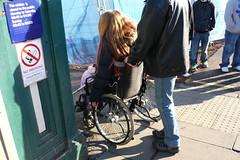 wheelchair user heading into Waverley