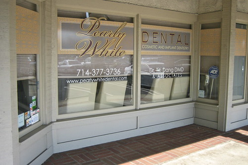 Pearly White Dental window wrap