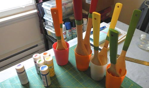 Rainbow Wooden Spoons 7