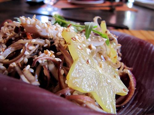Vietnamese banana flower salad (Nộm hoa chuối)