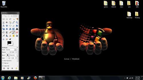 dual-boot MSWin 7