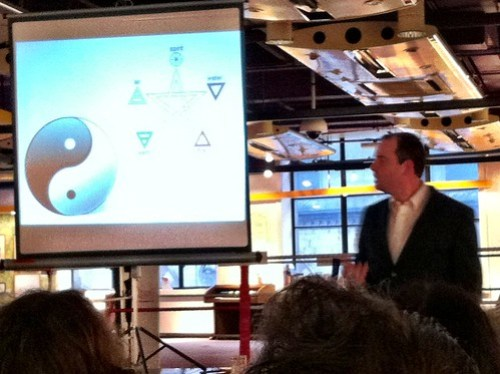 Dr Michael J Porter presenting at BettaKultcha