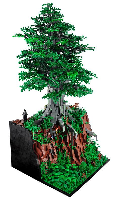 LEGO LOTR diorama