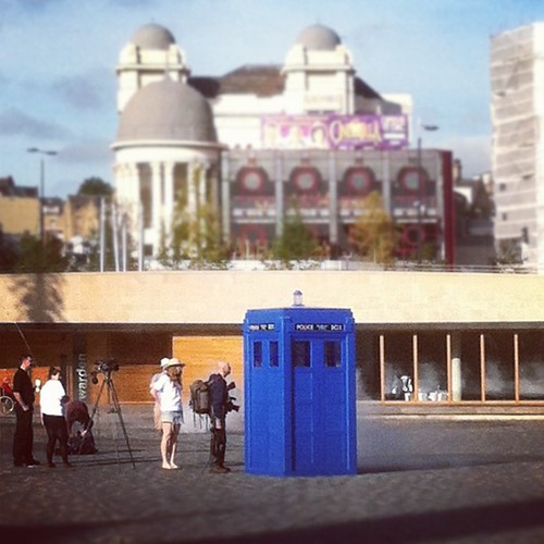 Someone's parked a TARDIS in Bradford City Centre...
