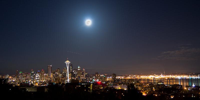 Supermoon Seattle