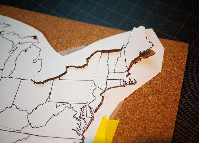 Travel Map Pin Board DIY 2