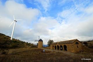 Molinos de viento en la Sierra de la Guerinda
