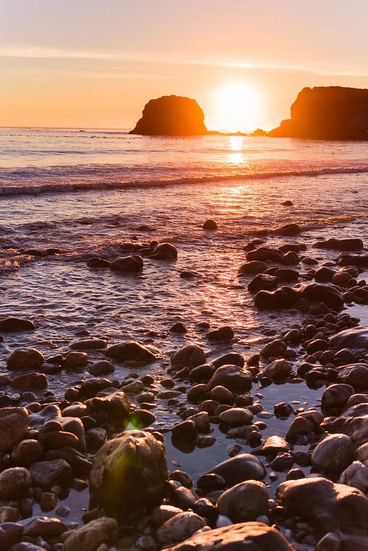 sunset at andrew molera beach