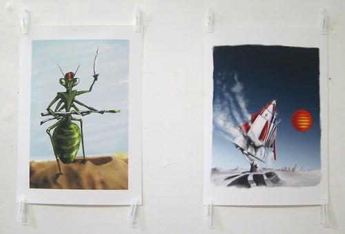 Mantis Warrior and Lift Off prints